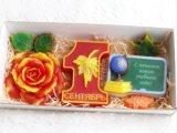 """Набор мыла """"1 сентября + цветы + доска"""". Фото 1."""