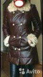 Пальто из натуральной кожи р.40-42. Фото 1.