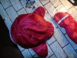 Комплект шапка kangol + перчатки красные идеал. Фото 1.