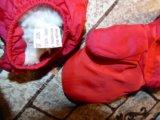 Комплект шапка kangol + перчатки красные идеал. Фото 3.