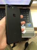 Iphone 7 plus 128g чёрный-матовый. Фото 1.