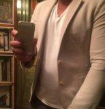 Мужской новый бежевый пиджак zara. Фото 1.