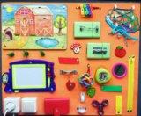 Развивающая игрушка доска бизиборд. Фото 1.