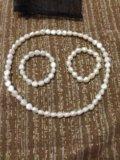 Бижутерия:два браслета и ожерелье. Фото 1.