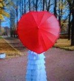 """Аренда. зонт """" красное сердце"""". Фото 2."""