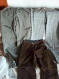Джинсы и льняные брюки. Фото 1.