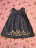 Платье джинсовое бренд. Фото 1.