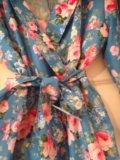 Платье шелк розами. Фото 1.