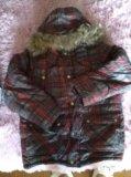 Куртка зима, очень теплая с натуральным мехом. Фото 1.