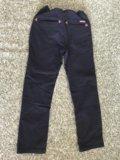 Черные брюки / джинсы / штаны р.128 / 8 лет. Фото 4.