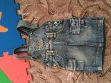 Комбинезон джинсовый на 1,5-3года. Фото 1.