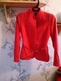 Малиновое пальто. Фото 3.