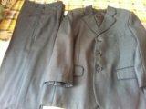 Костюм тройка серого цвета на 7-8 лет. Фото 2.