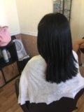 Наращивание тёмных волос. Фото 4.