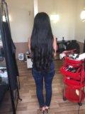 Наращивание тёмных волос. Фото 2.