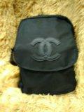 Черный ранец в школу и в институт. Фото 1.