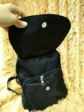 Черный ранец в школу и в институт. Фото 2.