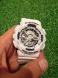 Касио ga 110 (белые-черные с золотом)наручные часы. Фото 1.