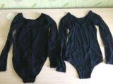 Купальники для гимнастики чёрные 2 шт. Фото 2.