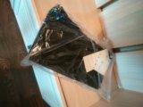 Тёмно-синие джинсы с высокой посадкой. Фото 1.