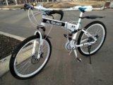 Велосипед белый, новый. Фото 1.