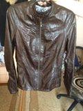 Кожаная куртка 🇮🇹 италия. Фото 1.