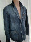 Оригинал джинсовый пиджак celio size xl. Фото 1.