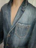 Оригинал джинсовый пиджак celio size xl. Фото 2.