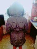 Куртка зимняя+варежки. Фото 1.