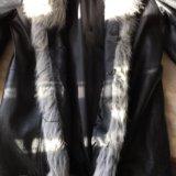 Куртка зимняя кожа 48-50 и ботильоны 39. Фото 3.