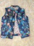 Джинсовая жилетка для девочки. Фото 1.