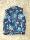 Джинсовая жилетка для девочки. Фото 2.