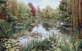 Гобелен «сад моне» (101×150). Фото 1.