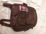 Рюкзак женский из натуральной кожи. Фото 1.