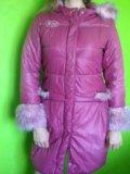 Зимнее пальто для девочки 11-12 лет. р.160. Фото 1.