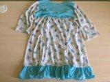 Ночная рубашка голубая. Фото 2.
