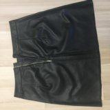 Кожаная юбка zara. Фото 1.