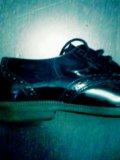 Туфли детские стильные лакированные. Фото 1.