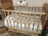 Кровать детская 0-3 + матрас в подарок. Фото 2.
