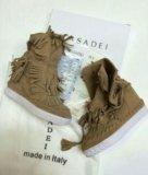 Сникерсы casadei натуральная замша. Фото 1.