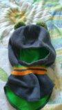 Детская шапка шлем. Фото 1.