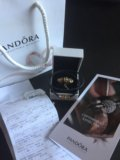 Золотые шармы пандора и кожаный браслет . Фото 1.