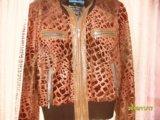 Кожаная куртка с арнаментом. Фото 1.
