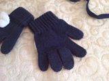 Детская шапка и перчатки для девочки на осень. Фото 4.