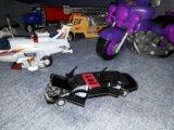 Машинки 20-30 см самолет мотоцикл лимузин. Фото 2.