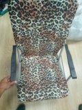 Стул со спинкой леопард складной. Фото 1.