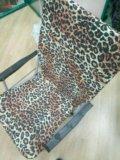 Стул со спинкой леопард складной. Фото 4.