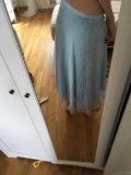Небесно голубая юбка. Фото 2.