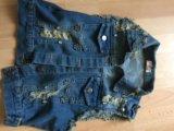 Джинсовая жилетка. Фото 2.