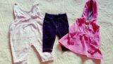 Пакет фирменных вещей на малышку до 6мес. Фото 3.
